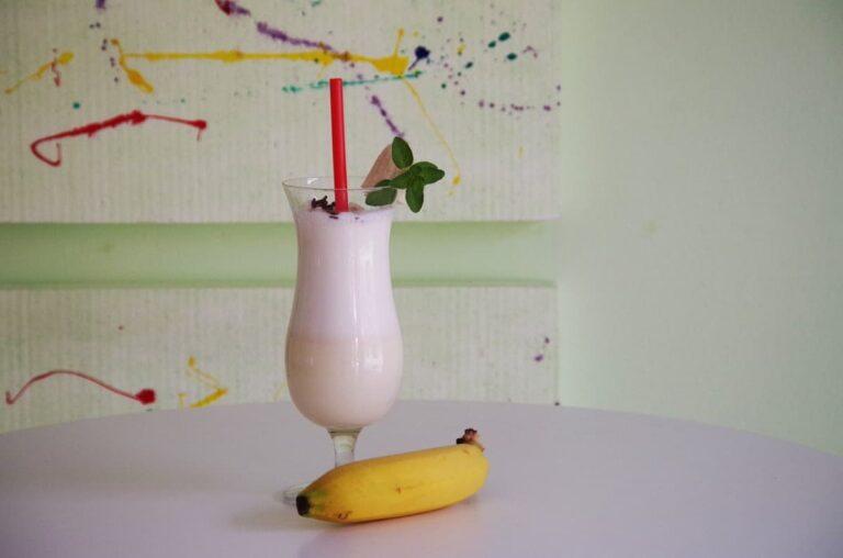Batido de lima y plátano
