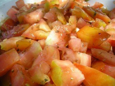 Ensalada templada de tomates