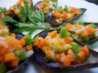 Mejillones con verduras