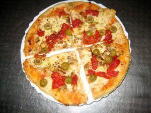 Pizza con pimientos