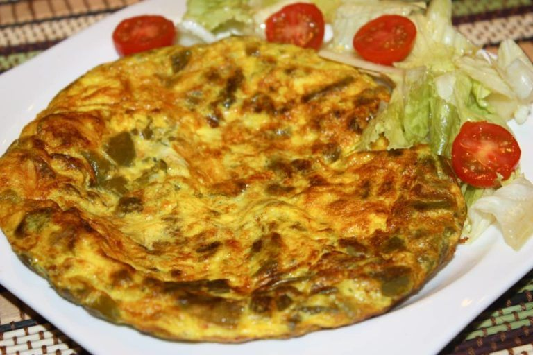 Tortilla espárragos silvestres
