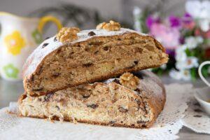 pan con chocolate y nueces