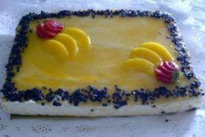 tarta melocotón