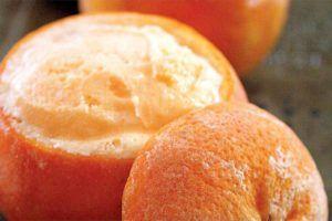 Delicia naranja helada