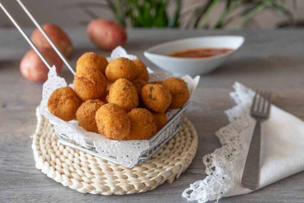Bocaditos de patatas con beicón