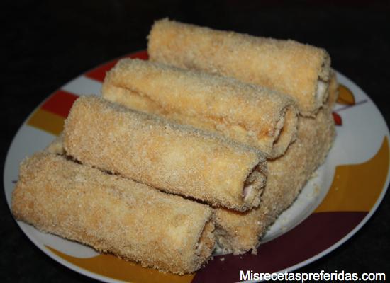 Flamenquines de pan de molde