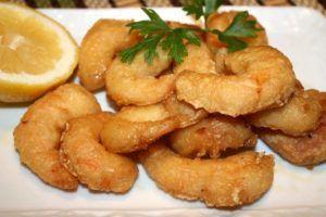 Gambas tempura