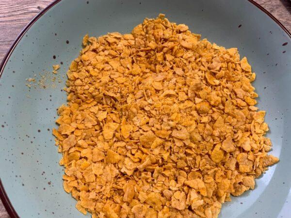 cereales machacados con las manos