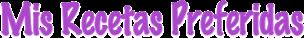 Logotipo Mis Recetas preferidas