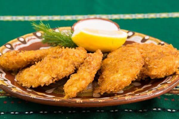 Pechugas de pollo adobadas y crujiente