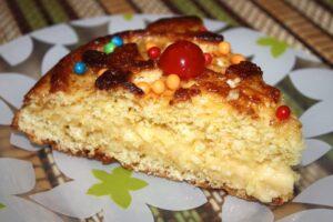 Tarta de mandarina con crema de queso