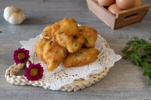 Tortillitas de pescado y gambas