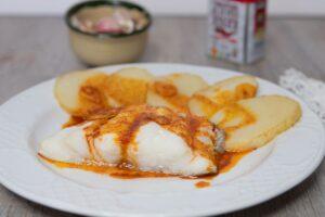 Bacalao con patatas al pimentón