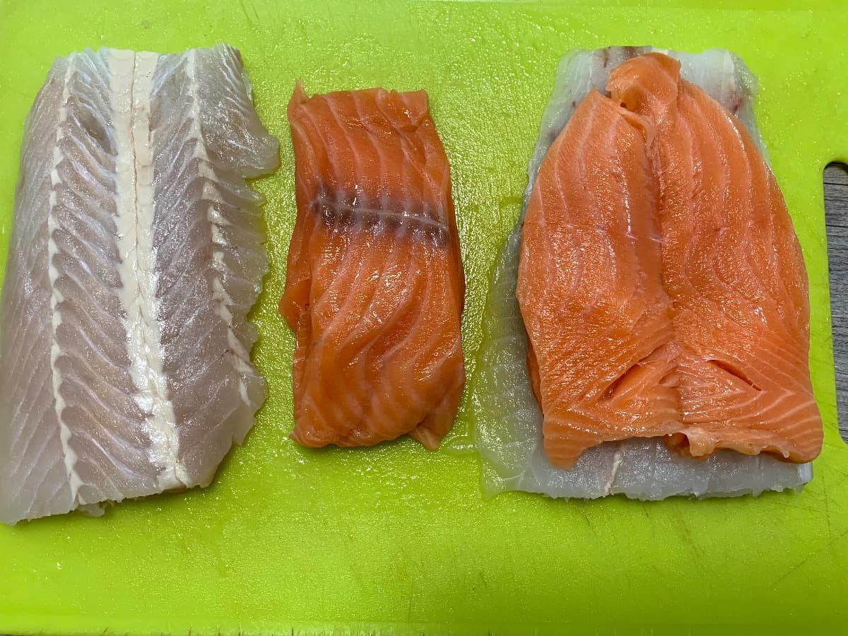 preparación merluza salmon