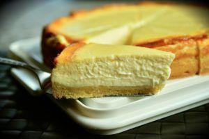 tarta de queso con almendras