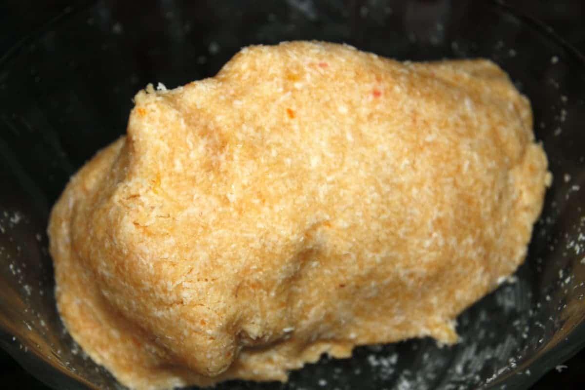 masa de coco