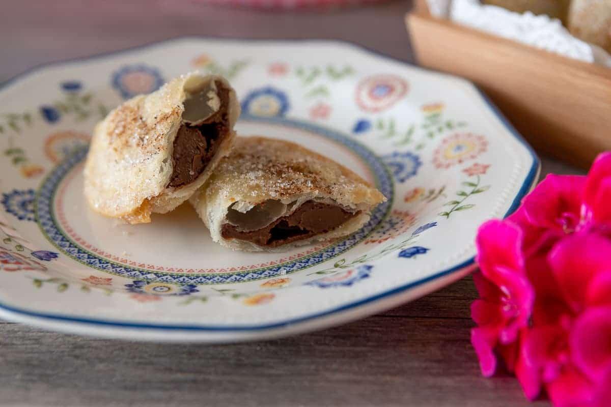 Empanadillas de crema de chocolate