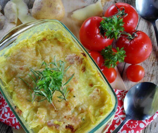 Coliflor gratinada con patatas