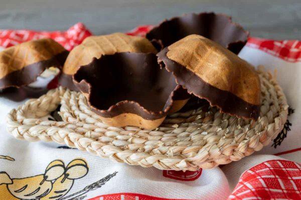 Tulipas cubiertas con chocolate