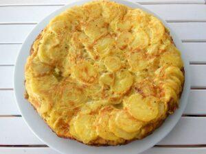 Pinchos de tortilla de patatas al horno