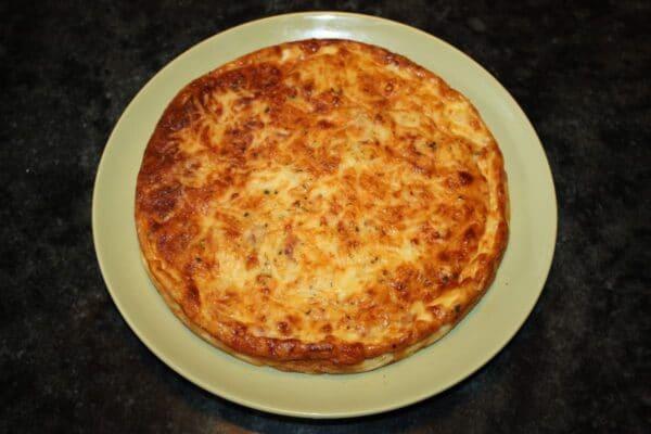 Pastel de beicon jamón y queso