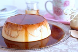 Flan nata y queso
