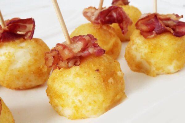 Merengues de patatas con beicon