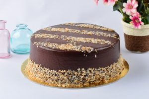 Tarta de chocolate con crema pastelera