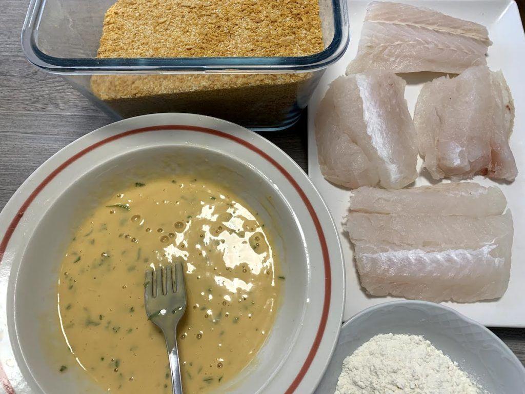 Ingredientes Escalope merluza