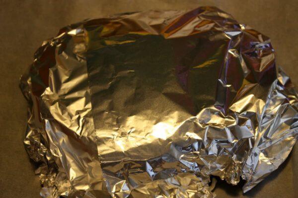 Envolver en papel de plata y meter en el horno
