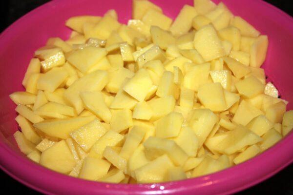patatas cortadas