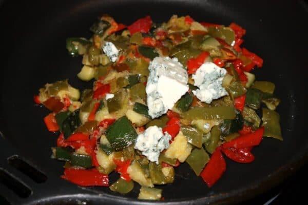 Verduras con queso