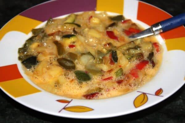 Batir tortilla verduras