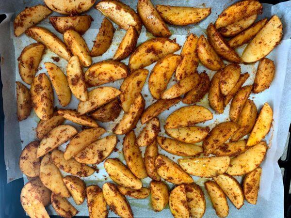 Patatas bandeja horno