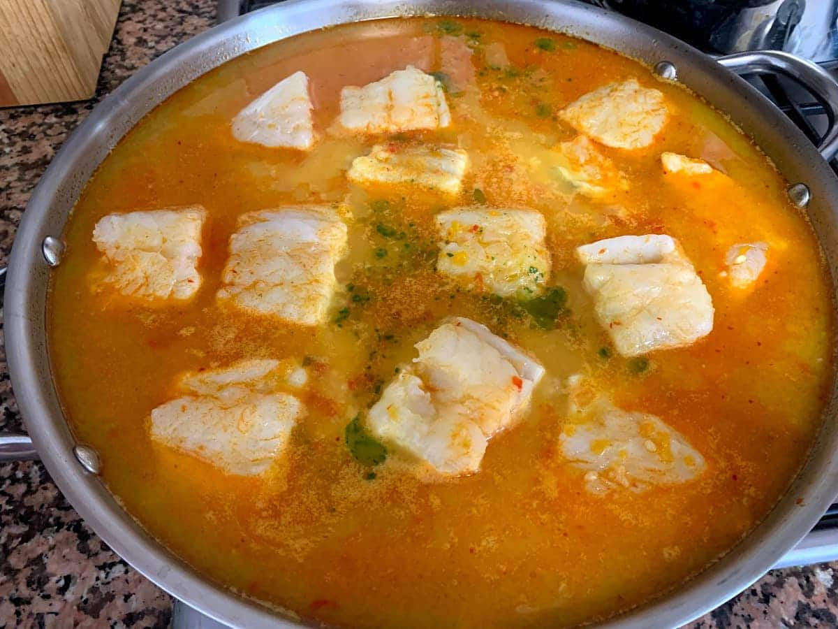 preparación arroz con bacaao
